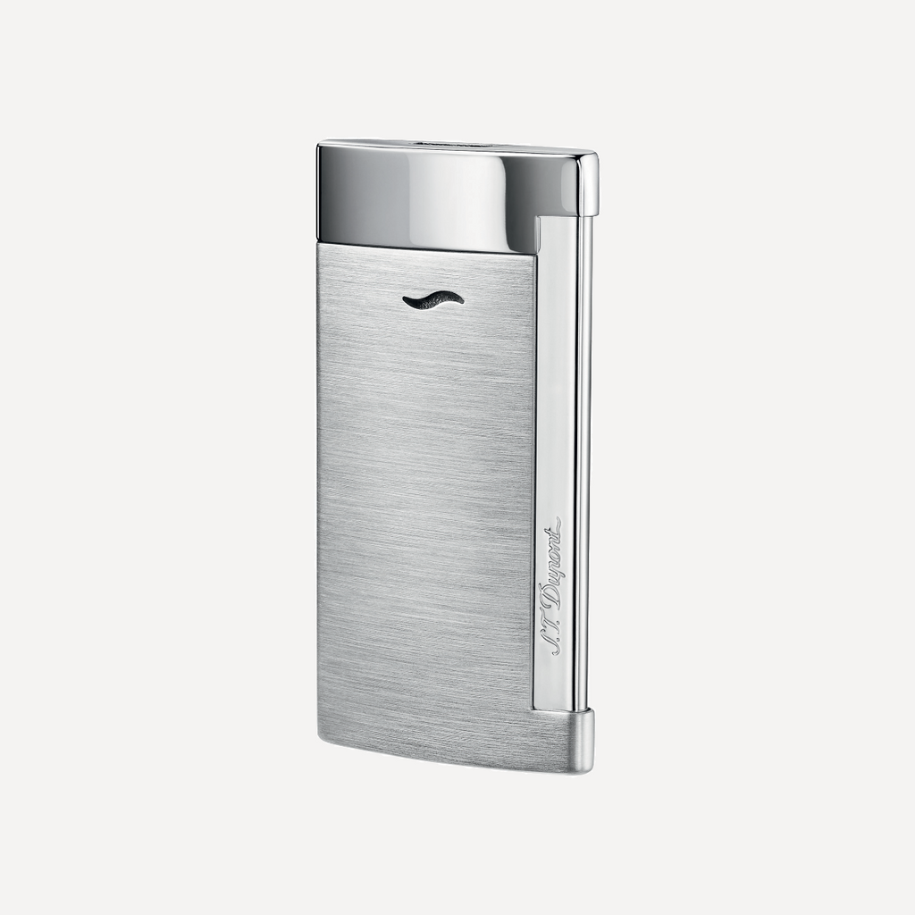 S.T. Dupont SLIM 7 Brushed Chrome Finish Torch Lighter 27701