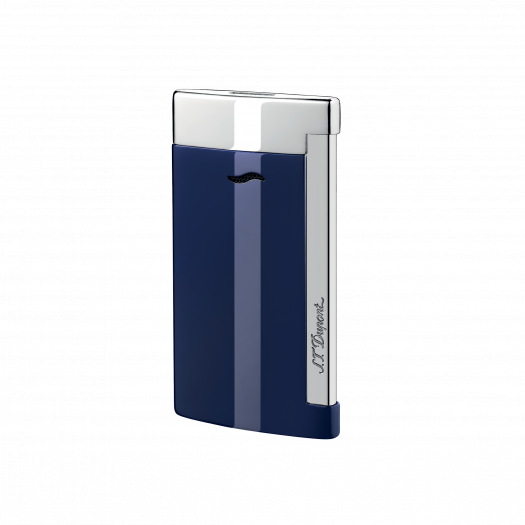 S. T. Dupont SLIM 7 BLUE AND CHROME FINISH LIGHTER 27709