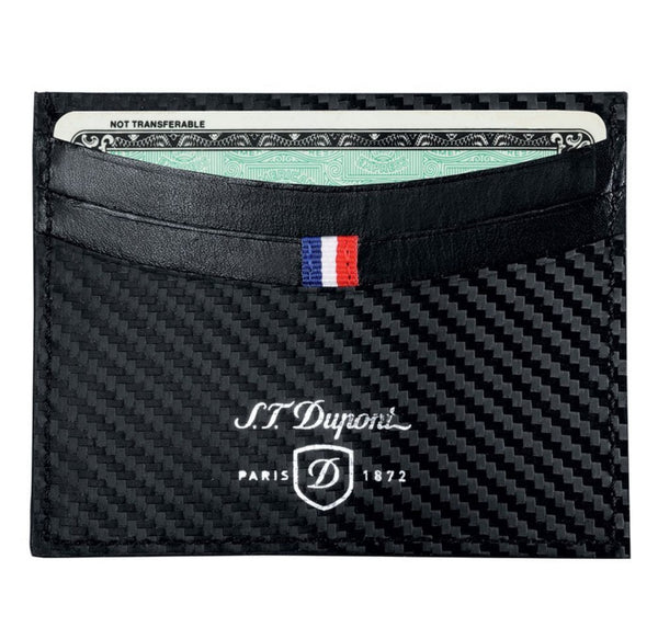 S.T. Dupont CREDIT CARDS HOLDER, CARBON LEATHER 170006