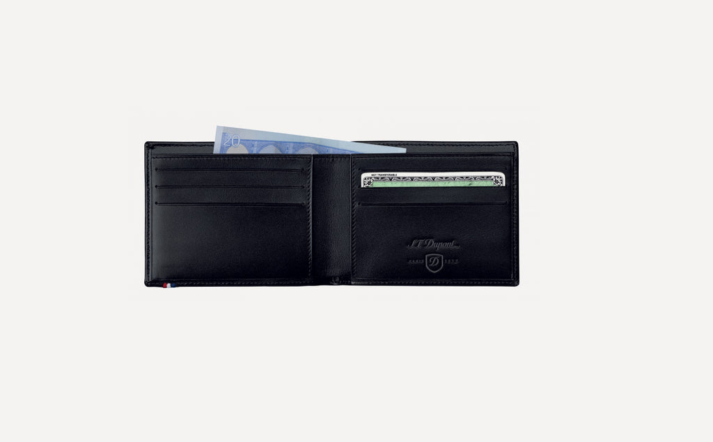 S.T. Dupont BILLFOLD 6 CREDIT CARDS LINE D LEATHER 180000