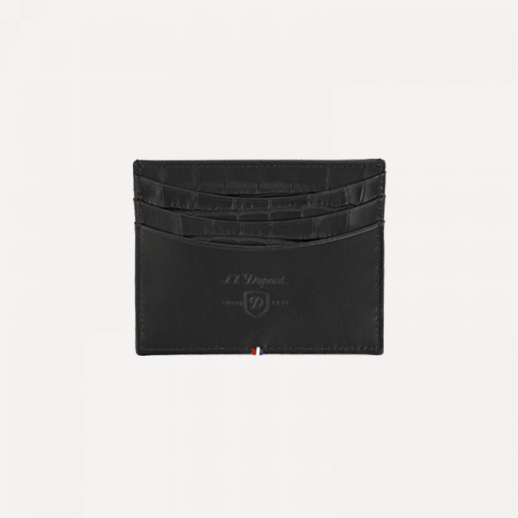 S.T. Dupont Credit Card HOLDER CROCO DANDY BLACK 180068