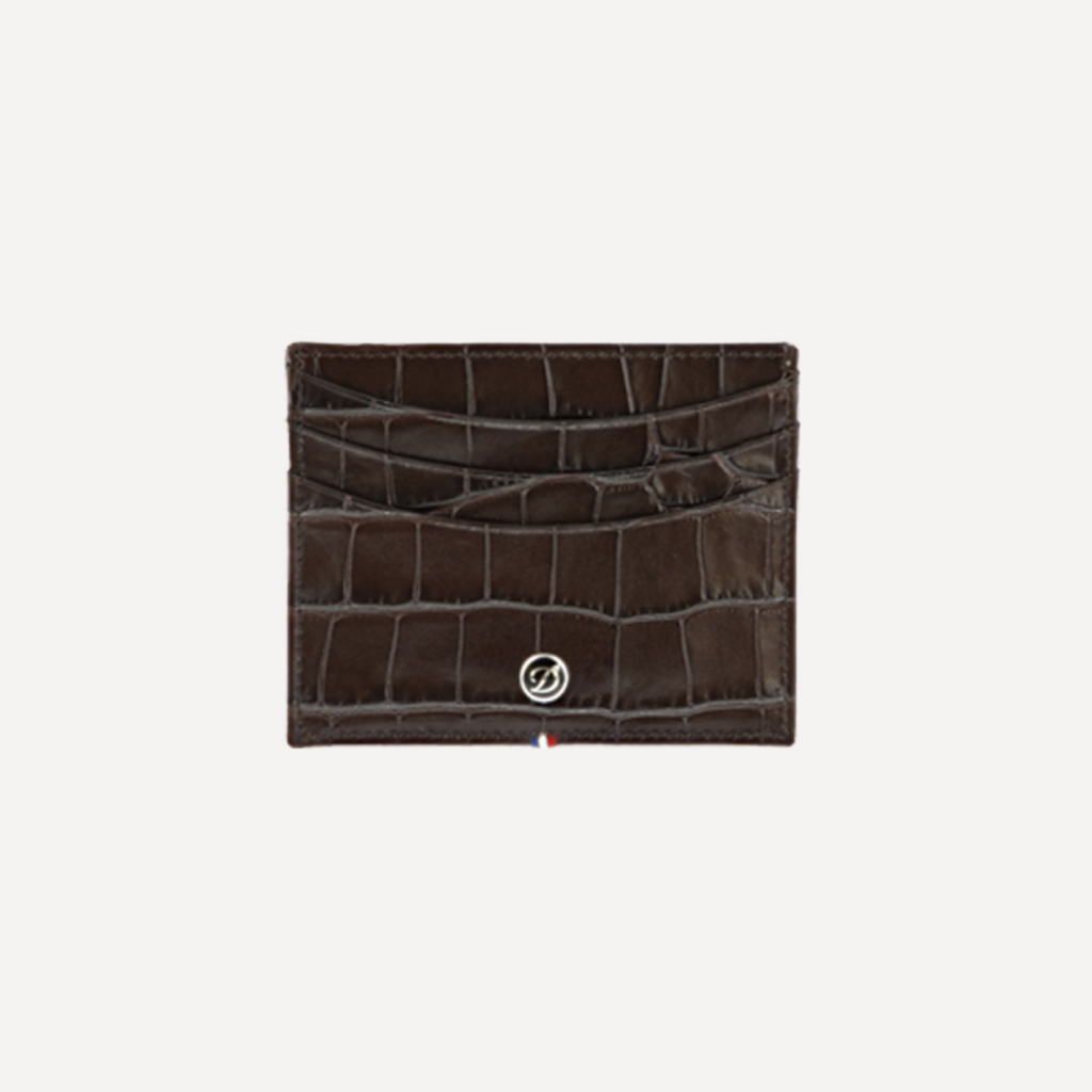S.T. Dupont Credit Card HOLDER CROCO DANDY BROWN 180168