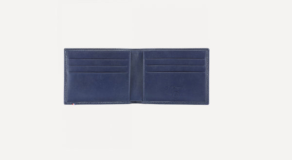 S.T. Dupont BILLFOLD 6 CREDIT CARDS GRAINED NAVY BLUE 180270