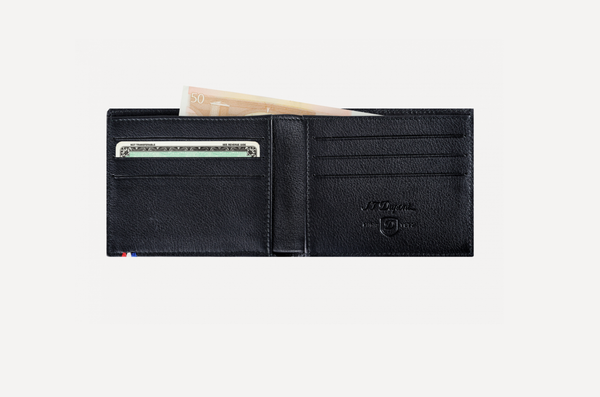S.T. Dupont Billfold 6 Credit Cards Contraste Leather 180300
