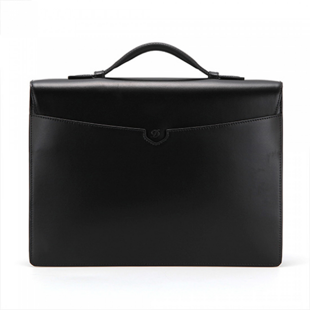 S.T. Dupont Line D Tourniquet Briefcase, Black Leather 181000