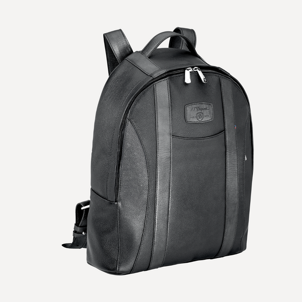 S.T. Dupont Line D BACKPACK, SOFT DIAMOND GRAINED LEATHER Black 181257