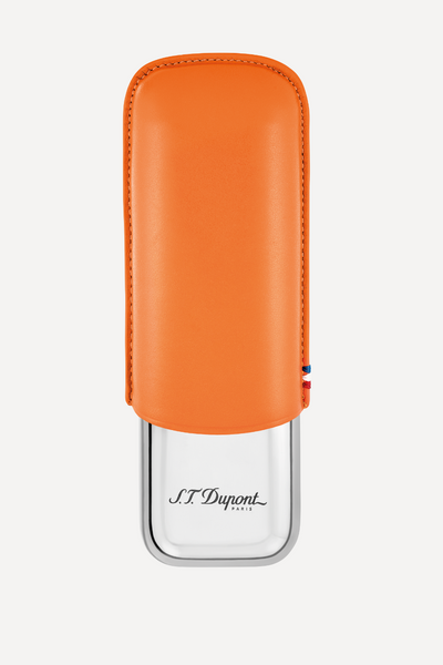 S.T. Dupont Double Cigar Case Orange 183012