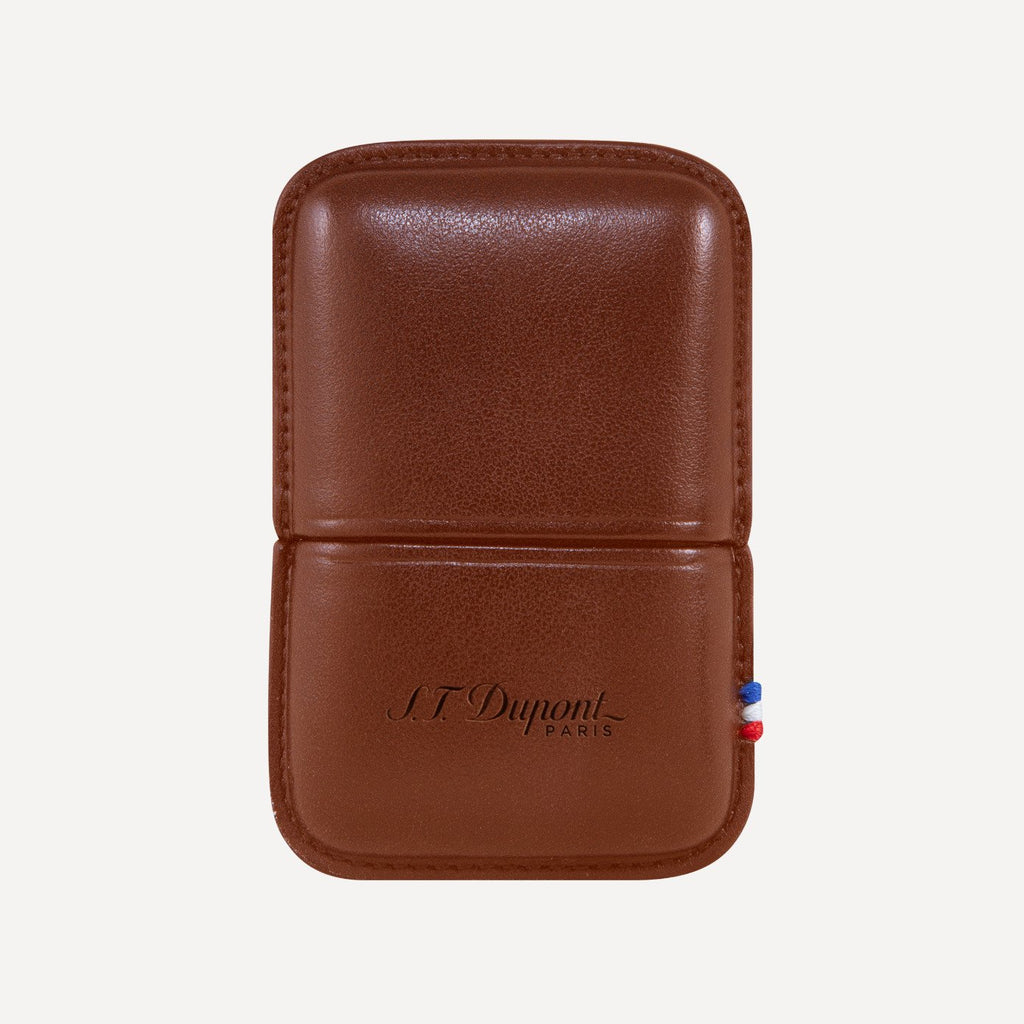 S.T. Dupont Ligne 2 Lighter Case Brown Leather 183071