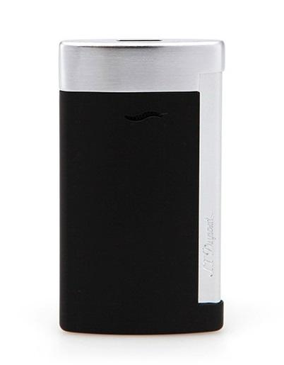 S.T. Dupont SLIM 7 MATT BLACK Brushed Chrome Finish Torch Lighter 27710