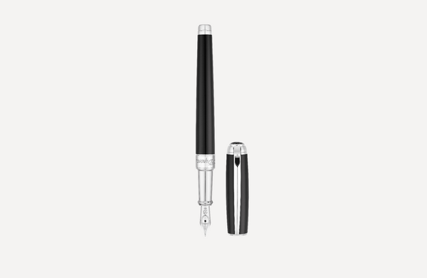 S.T. Dupont Line D Medium Black Palladium Fountain Pen 410100M