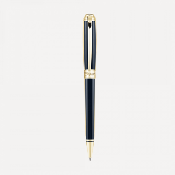 S.T. Dupont Line D Windsor Yellow Gold & Blue Ballpoint Pen 415111M