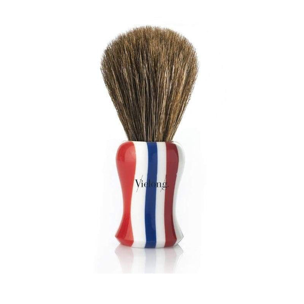 Vie-Long Horse Hair Shaving Brush, Barber Pole Design Handle