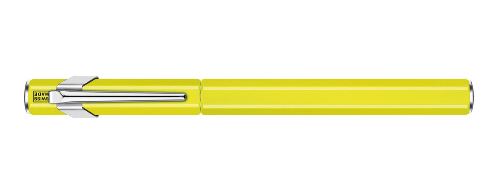 Caran D'Ache 849 Metal Fluo Yellow Medium Fountain Pen