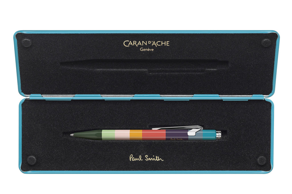 Caran-DAche-849-Paul-Smith-Collection-Peacock-Blue-Ballpoint-Pen
