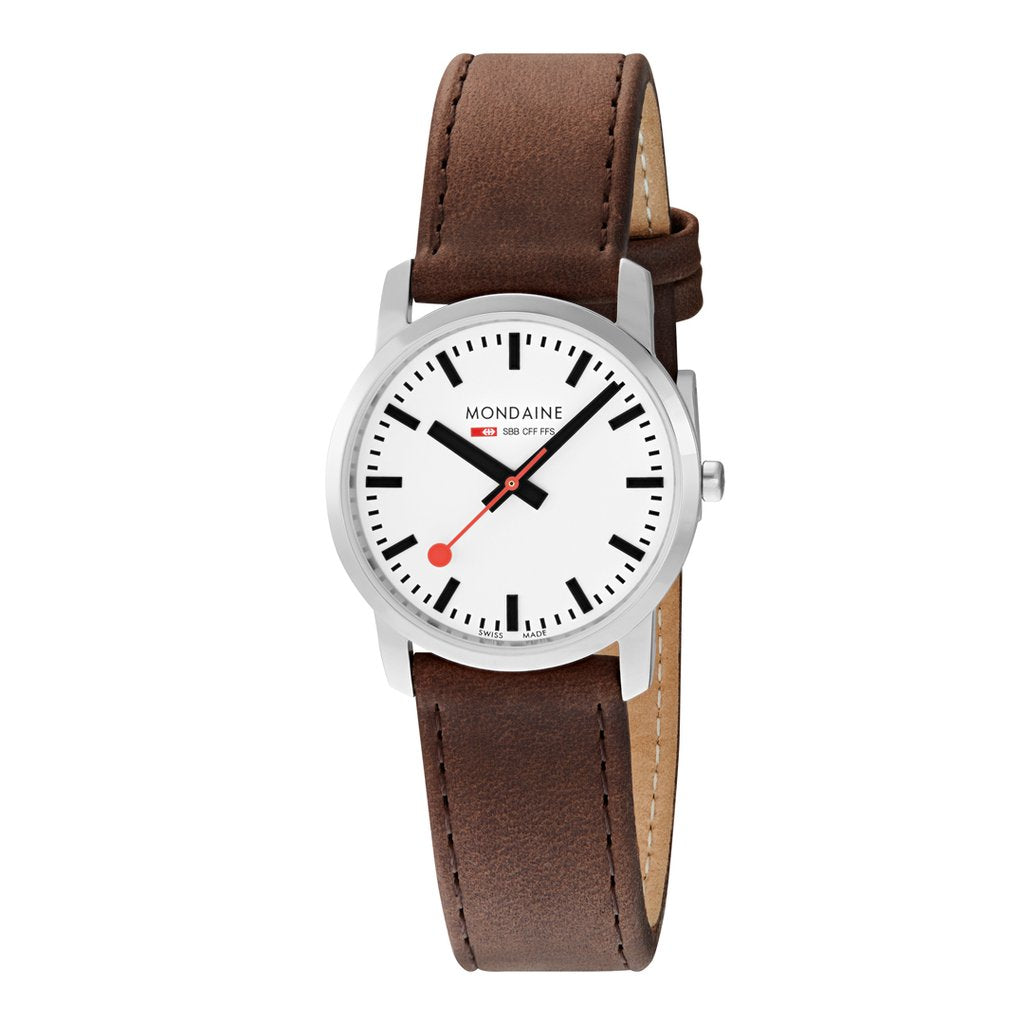 Mondaine Simply Elegant 36mm Brown Leather Watch A400.30351.11SBG