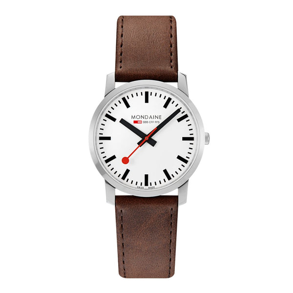 Mondaine Simply Elegant 41mm Brown Leather Watch A638.30350.11SBG