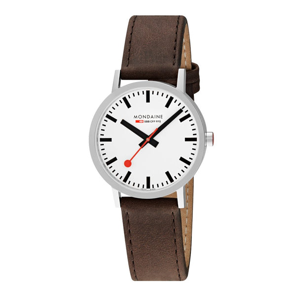 Mondaine Classic 40mm Brown Leather Watch A660.30360.11SBG