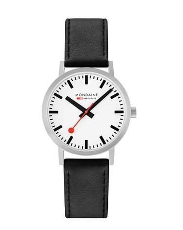 Mondaine Classic, 40mm, black leather watch, A660.30360.16SBB
