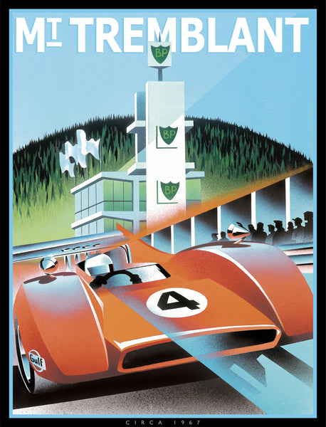 Alain Levesque Limited Edition Signed Poster Mont Tremblant McLaren