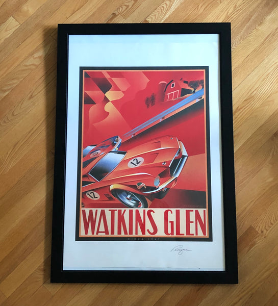Alain Levesque Limited Edition Signed Poster Watkins Glen