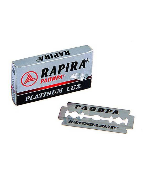 Rapira Double Edge Safety Razor Blades Platinum Lux (5 Blade Pack)