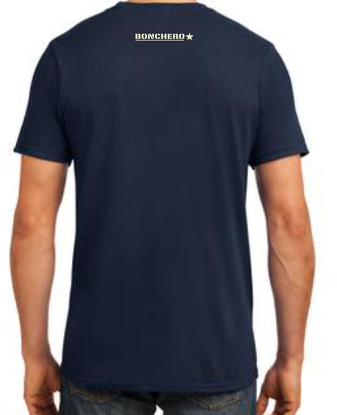 ONLY GREAT MEN SMOKE CIGARS - NAVY BLUE T-SHIRT