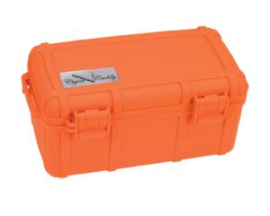Cigar Caddy 15 Count Orange Travel Humidor