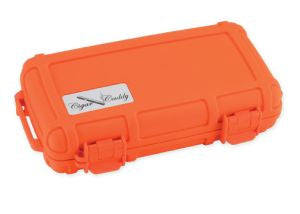 Cigar Caddy 5 Count Orange Travel Humidor