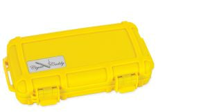 Cigar Caddy 5 Count Yellow Travel Humidor