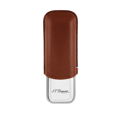 S.T. Dupont Metal Leather Case 2 Brown