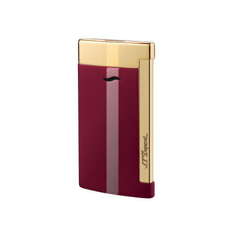 S. T. Dupont SLIM 7 Lighter Red & Gold