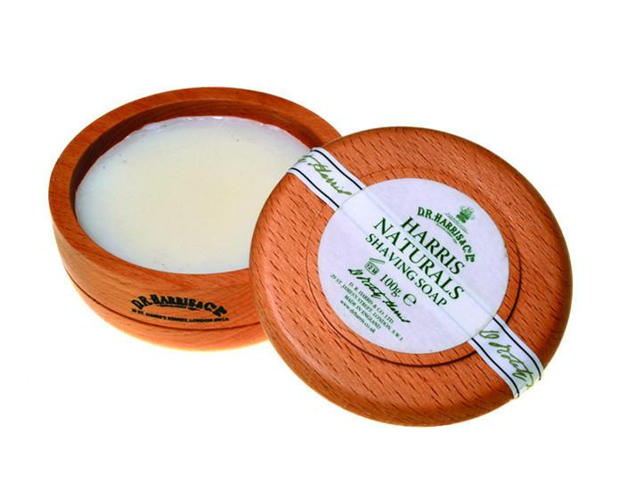 D.R. Harris Naturals Shaving Soap In Beechwood Bowl (100g/3.5oz)