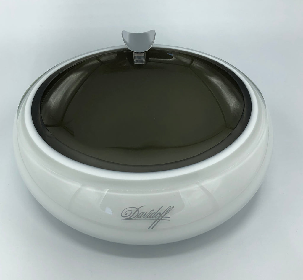 Davidoff Murano Crystal Glass Ashtray - Grey and Opal