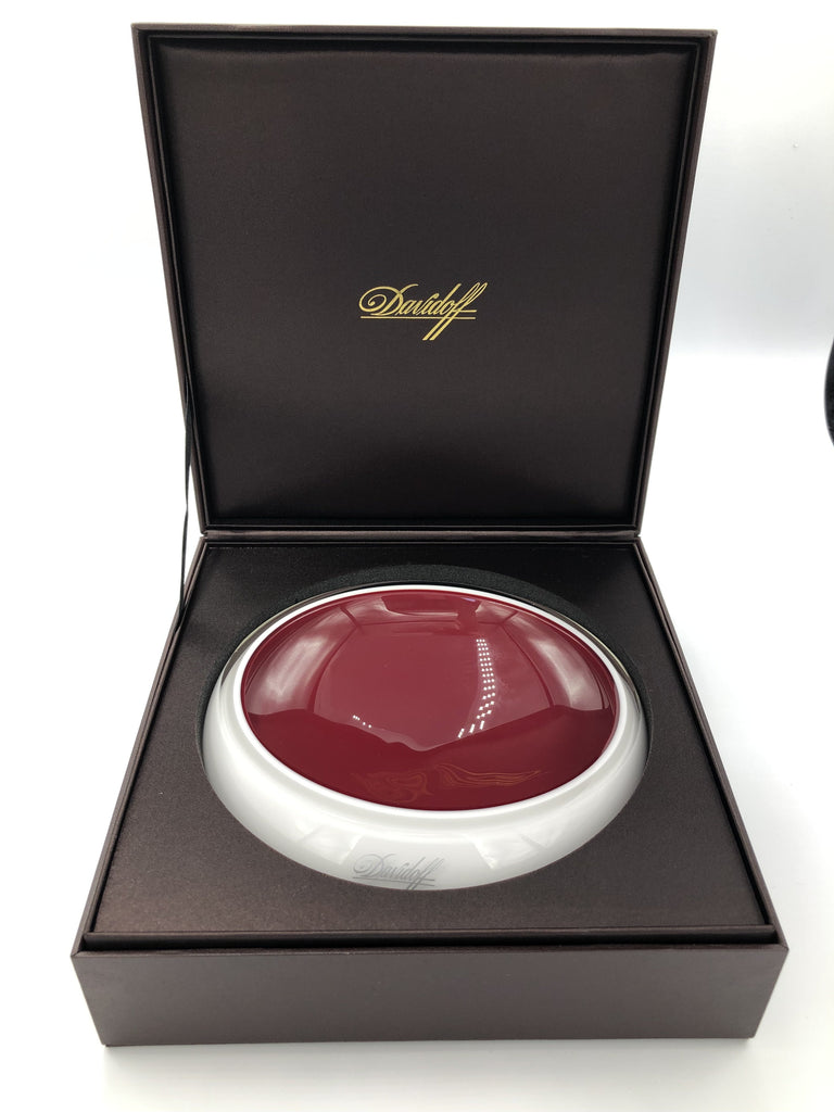Davidoff Murano Crystal Glass Ashtray - Red and Opal