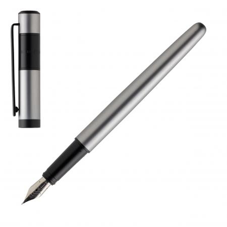 Hugo Boss Ribbon Matte Chrome Fountain Pen