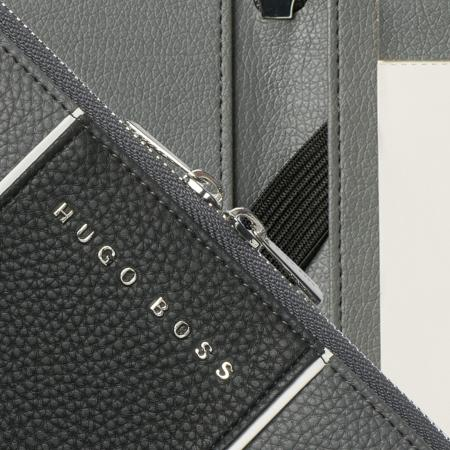 Hugo Boss Grey A5 Conference Folder