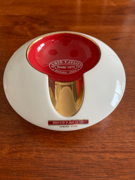 Porcelain Ashtray Romeo y Julieta (1 cigar)-HG3.00073