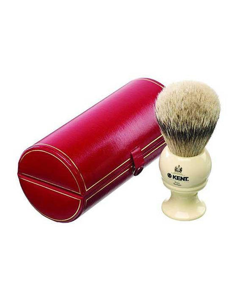 Kent Shaving Brush, Pure Silver Tip Badger, Large Ivory