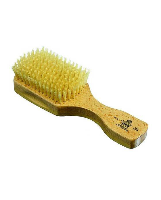 Kent Men's Brush, Rectangular Head,Soft White Bristles, Satinwood