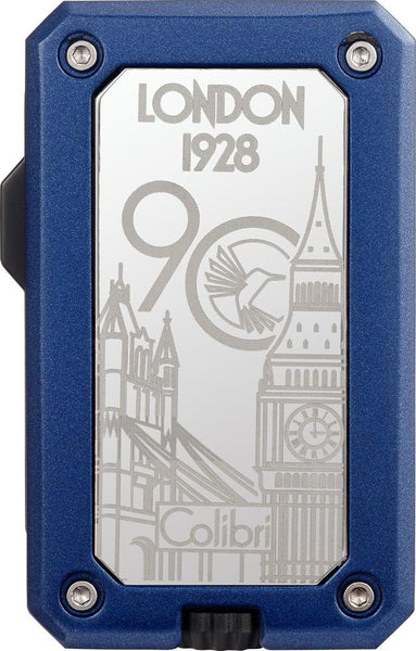 Colibri 90 Year Anniversary Rally Gunmetal and Blue Torch Lighter