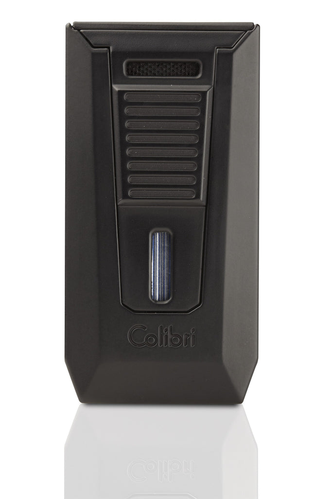 Colibri Slide Matte Black Torch Lighter and Punch LI850T10