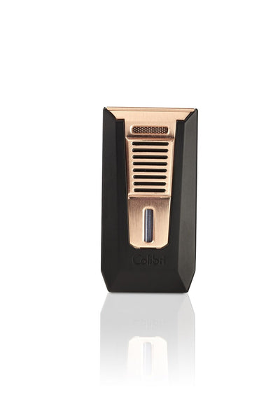 Colibri Slide Matte Black and Rose Gold Torch Lighter and Punch