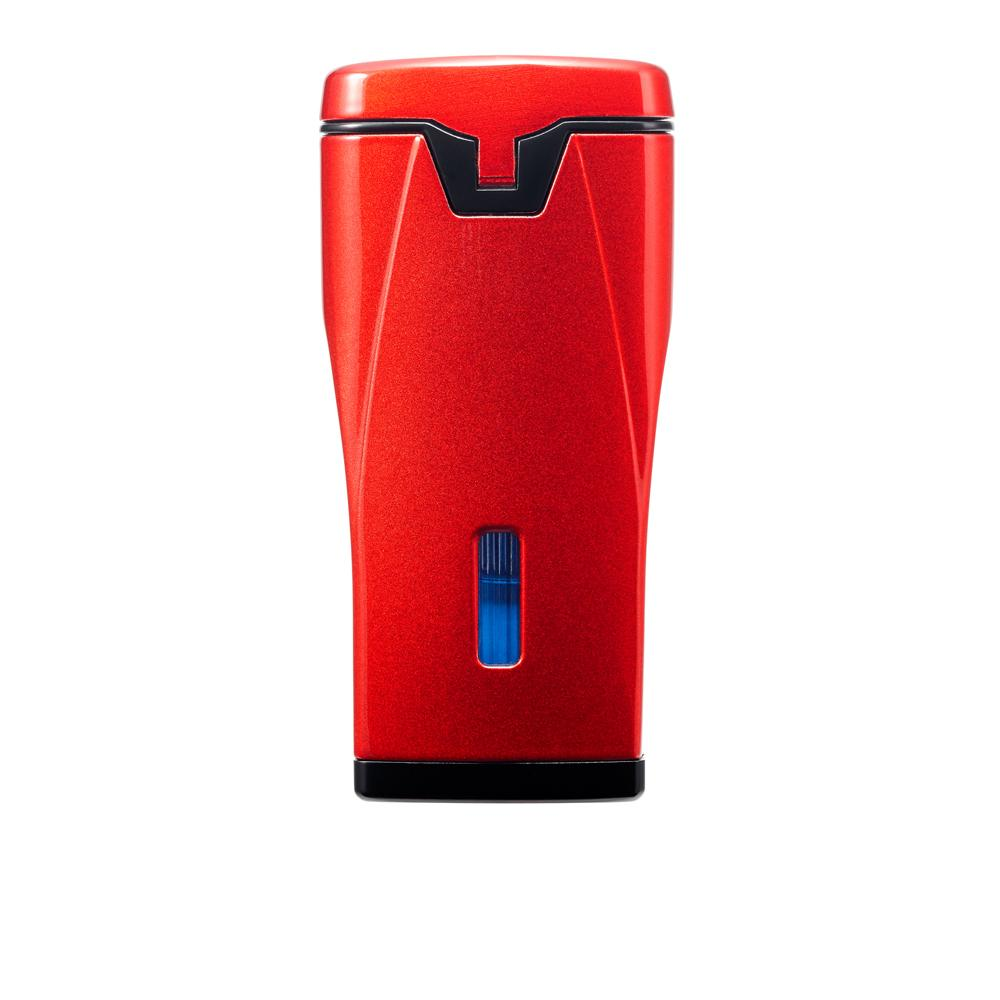 Colibri Monaco Metallic Red Triple Jet Torch Lighter