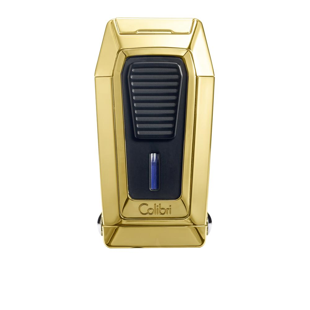Colibri Quantum Gold and Black Triple Flame Torch Lighter and V-Cut