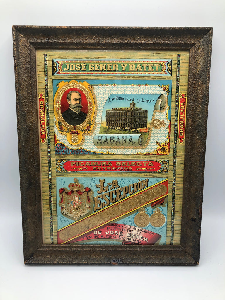 La Escepcion Jose Gener Pipe Tobacco Framed Art