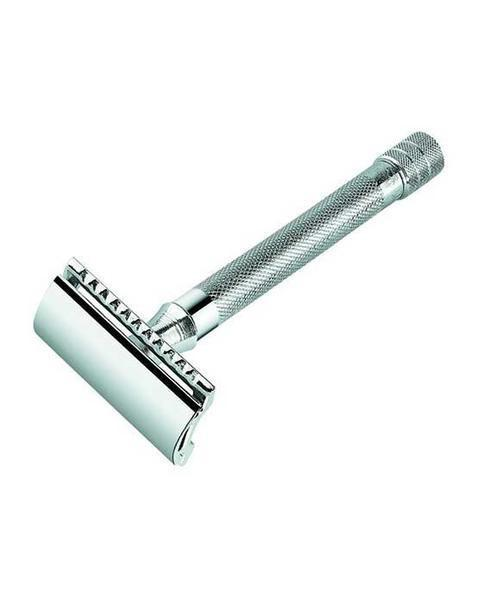 Merkur 23C Double Edge Safety Razor, Straight Cut, Extra Long Handle, Chrome