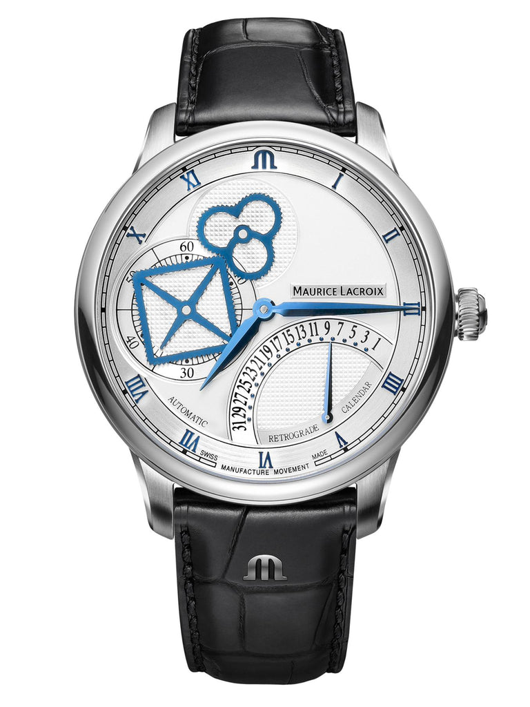 MAURICE LACROIX MASTERPIECE SQUARE WHEEL RETROGRADE 43 mm MP6058-SS001-110-1