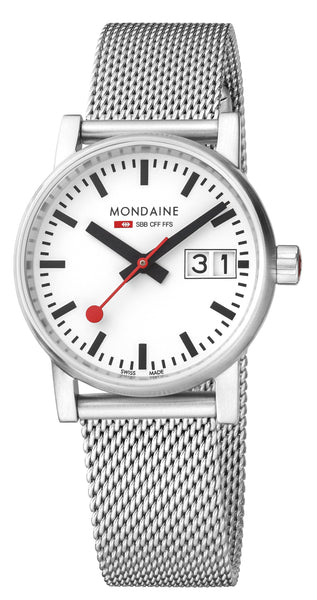 MONDAINE evo2, 30mm, stainless steel watch for women, MSE.30210.SM