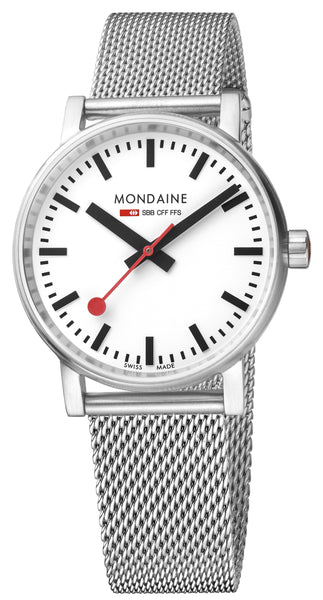 MONDAINE evo2, 35mm, stainless steel watch, MSE.35110.SM