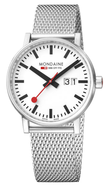 MONDAINE evo2, 40mm, stainless steel watch, MSE.40210.SM